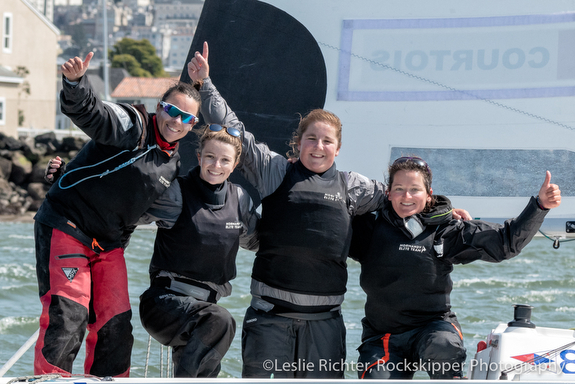 French women's sailing team- winners