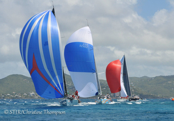 J/122s sailing Caribbean offshore