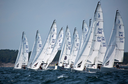 J/70s sailing Nordic Champs off Sweden