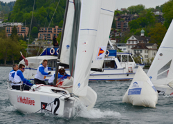 J/70 swiss sailing league mark rounding