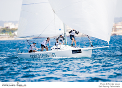 J/80 youth team sailing PalmaVela, Spain