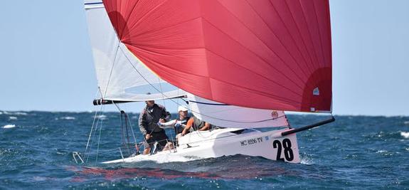 J/70s sailing Corinthians