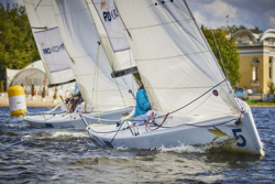 J/70s sailing upwind off Royal YC Moscow