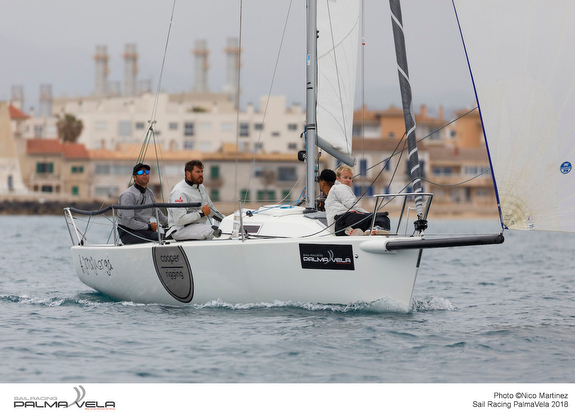 J/80 sailing PalmaVela Regatta