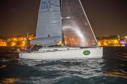 J/122 Artie winning Rolex Middle Sea Race