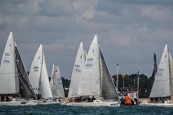 J/80s sailing Cowes Week