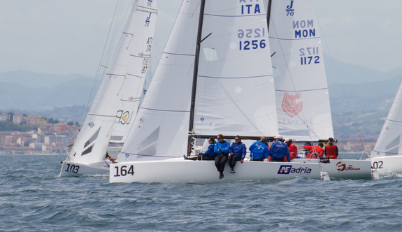 Rossi's J/70 sailing off Ancona, Italy