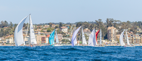J/70's sailing Chilean Nationals