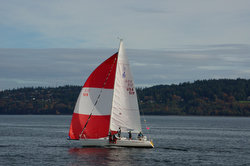 J105 sailing off Seattle