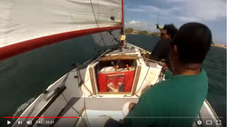 J/22 Geronimo sailing Kingston, Jamaica harbor
