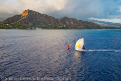 J/125 finishes Transpac Race at Diamond Head sunset
