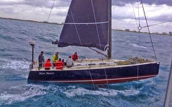 J/122 Miss Maris sailing off Jamaica and Cuba
