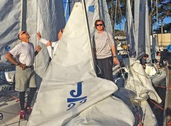 J/22 sailors at Three Bridge Fiasco race- St Francis Yacht Club