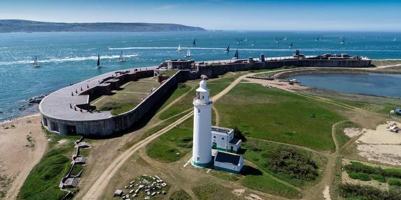 RORC Myth of Malham race sailing through forts