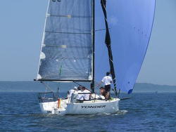 J/88 sailing downwind