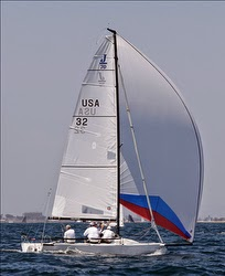 Dave Ullman sailing J/70- winning Long Beach Race Week