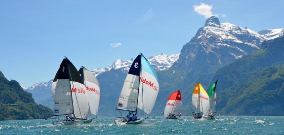 J/70s sailing Switzerland