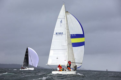 J/35 rocking Puget Sound in Seattle- sailing Scatchet Heads race
