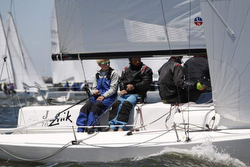 J/70 sailor Gannon Troutman on Pied Piper