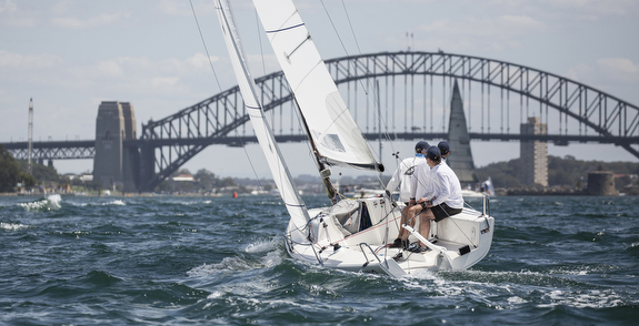 J/70 sailing on Sydney Harbour, Australia