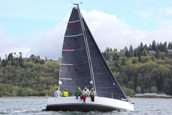 J/88 sailing Three Tree Point race- Seattle, WA