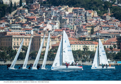 J/70s sailing Alcatel J/70 Cup off San Remo, Italy