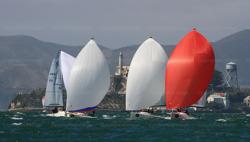 J/70s sailing San Francisco Bay