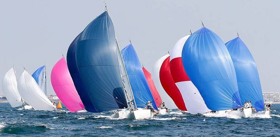 J/80s sailing on reach off France