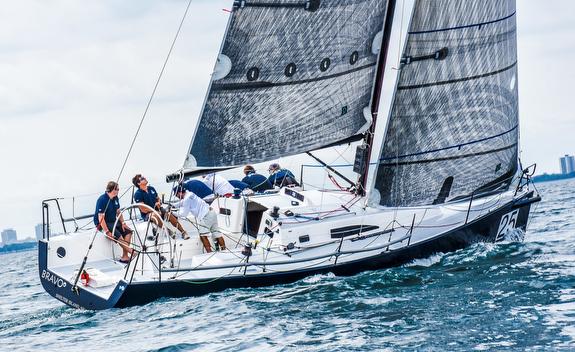 J/111 sailing Chicago