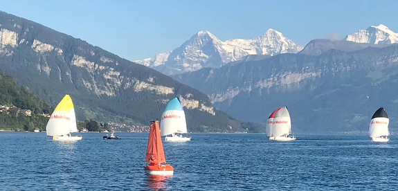 J/70s sailing of Lake Thun, Switzerland