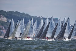 J/80 one-design sailboats off France