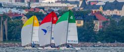Finnish J/70 sailing league off Helsinki, Finland