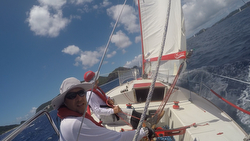 J/24 sailing Okinawa Race