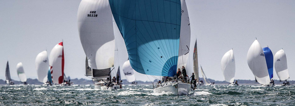 J/109s sailing Cowes Race Week