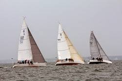J/88 leading at Buzzards Bay Regatta