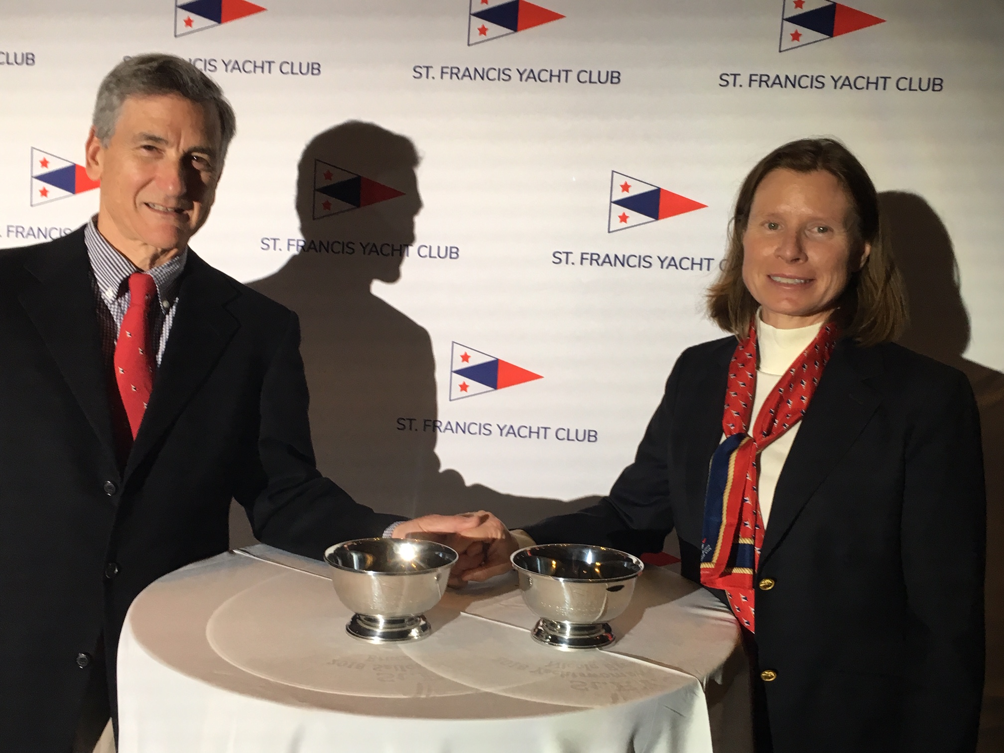 St Francis YC Yachtsman & Yachtswoman Sailors of the Year- Stone and Breault