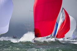 J/70s sailing fast down reach- San Francisco Worlds