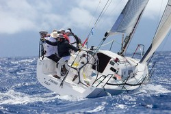 J/111 JBoss sailing St Barth
