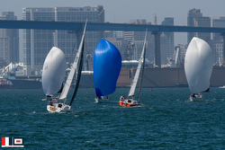 J/105s sailing Yachting Cup San Diego