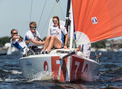 J/70 Dutch women sailing league off Aalsmeer, Netherlands