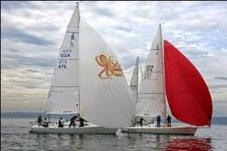 J/105 sailboats- sailing off Seattle, WA
