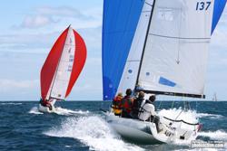 J/70s sailing J/Cup UK