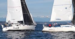 J/105s sailing off Seattle, WA