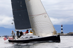 J/122 sailing Swiftsure race