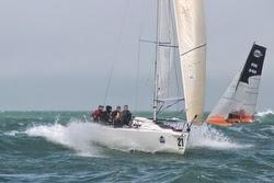 J/80 sailing EDHEC off France