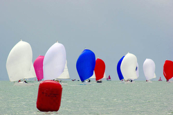 J/80s sailing on Solent- UK Nationals