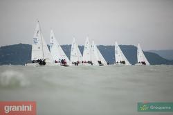 J/24 sailing Lake Balaton