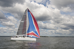J/109 sailing Vineyard Race off Stamford