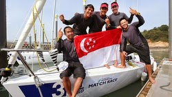 Singapore Gold Medalists in Asian Games J/80 Match Race