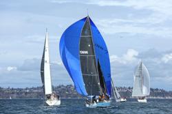 J/125 sailing Seattle offshore